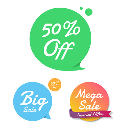 Sale of Special Offers and Discount Gradient Banner Template Flat Design.