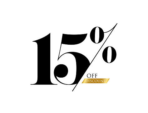 Sale of special offers. Discount with the number .  Percentage Sign. Stock illustration