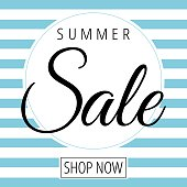 Sale on white and blue background vector vector illustration