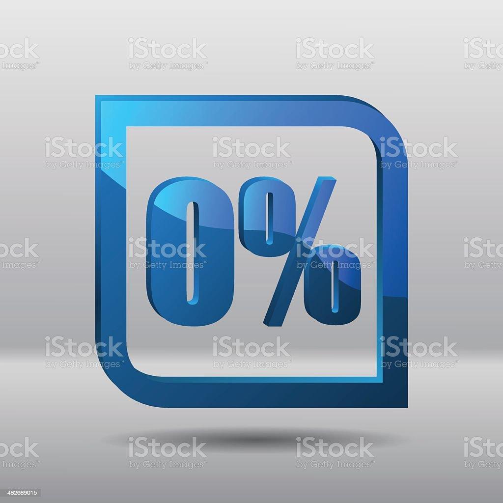 Sale percents label vector art illustration