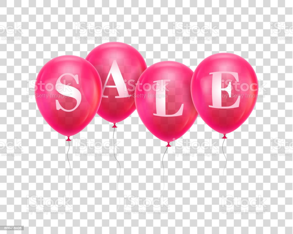Sale pink balloon vector art illustration