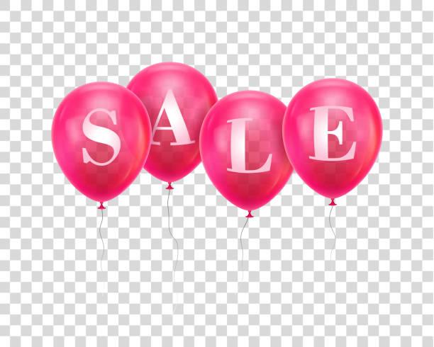 ilustrações, clipart, desenhos animados e ícones de balão de venda-de-rosa - dia do cliente
