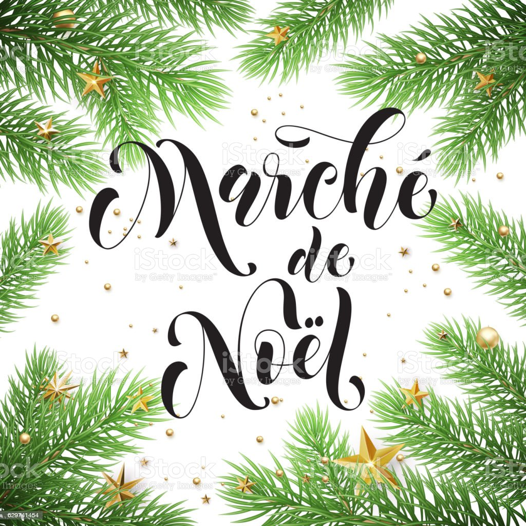 Sale Poster French Marche De Noel For Christmas Discount Promo Stock ...