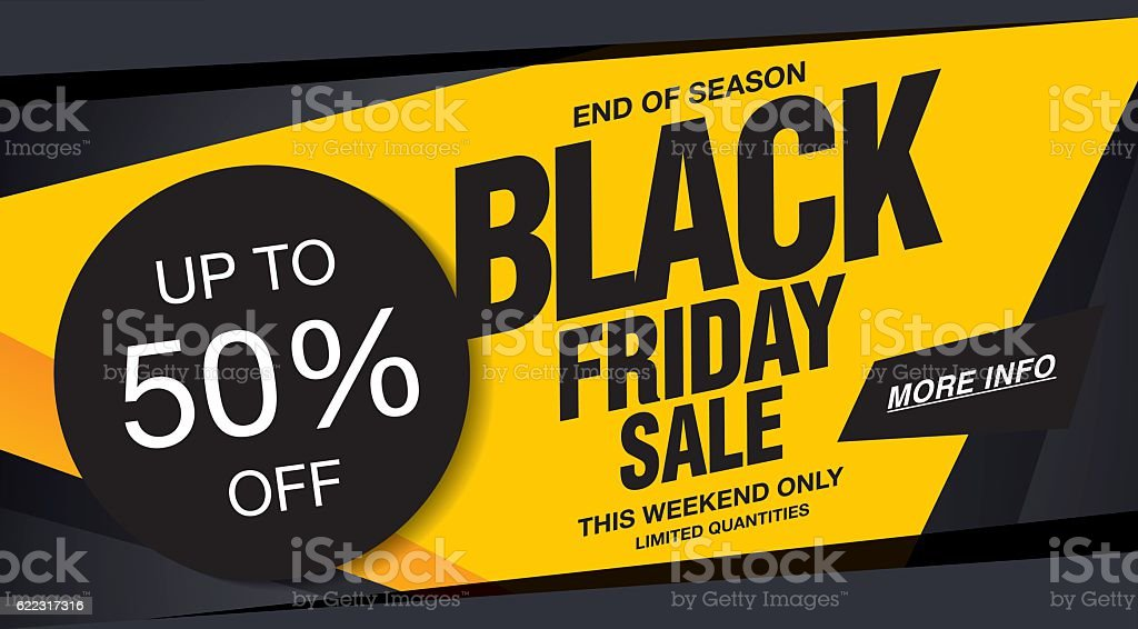Sale poster of black friday vector art illustration