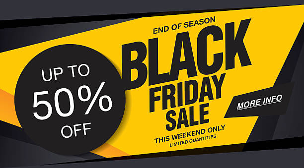 Sale poster of black friday Black friday sale banner template design. Vector illustration black friday sale background stock illustrations