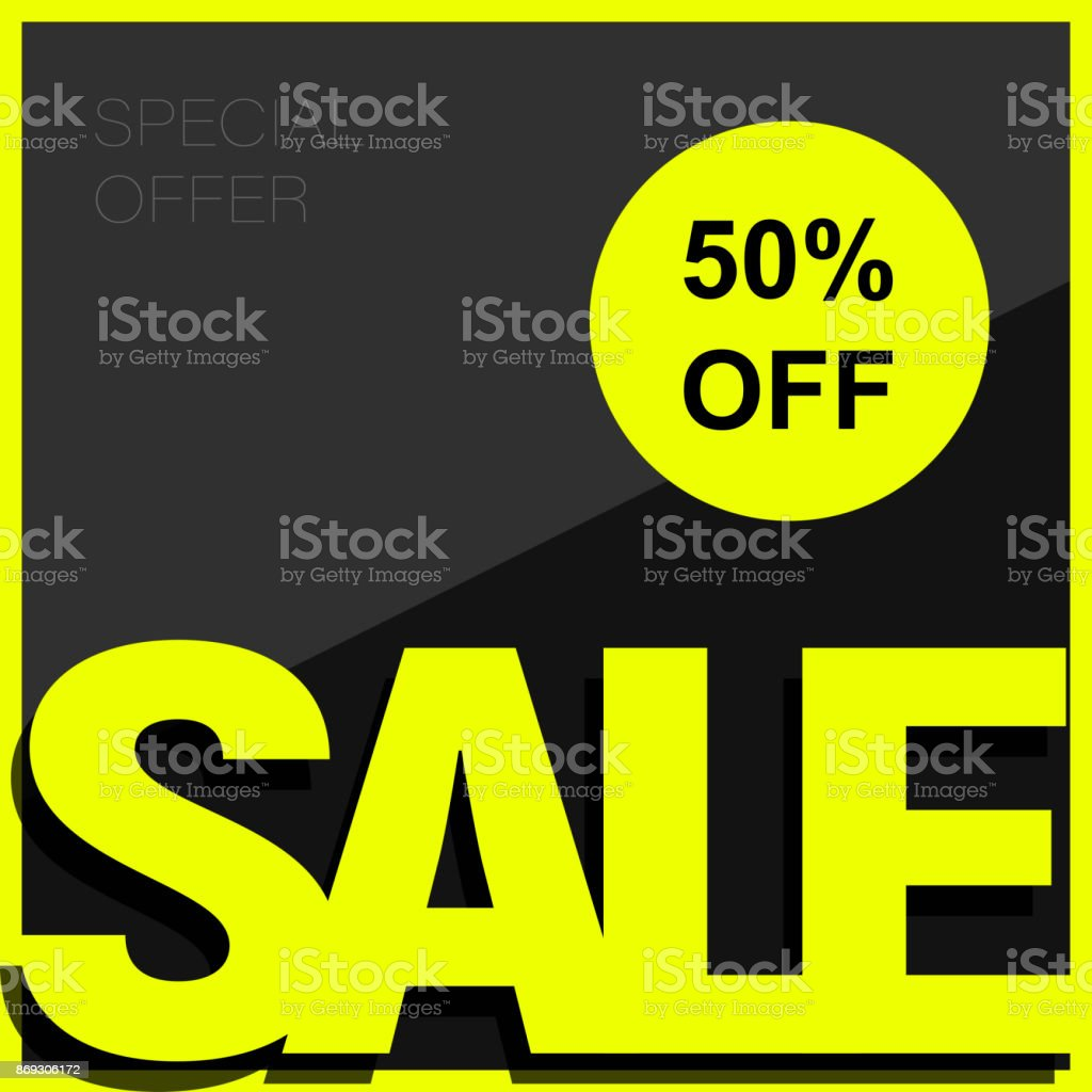 sale poster or flyer template design 50 off special offer sale stock