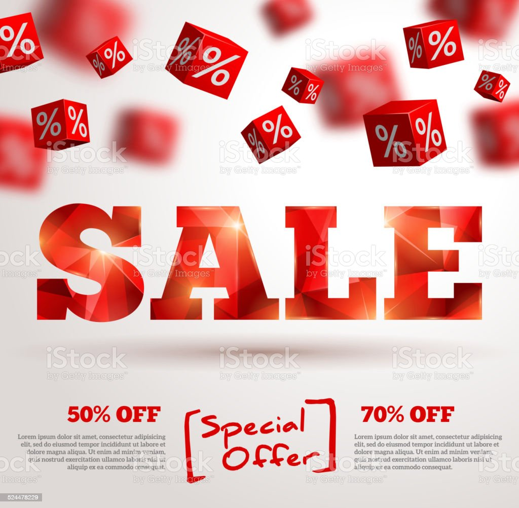 Sale poster. Vector illustration. Design template for holiday sale event. vector art illustration