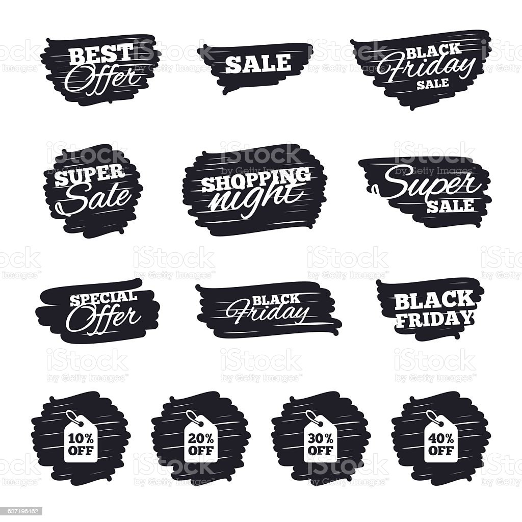 Sale Price Tag Icons Discount Symbols Stock Vector Art & More Images ...