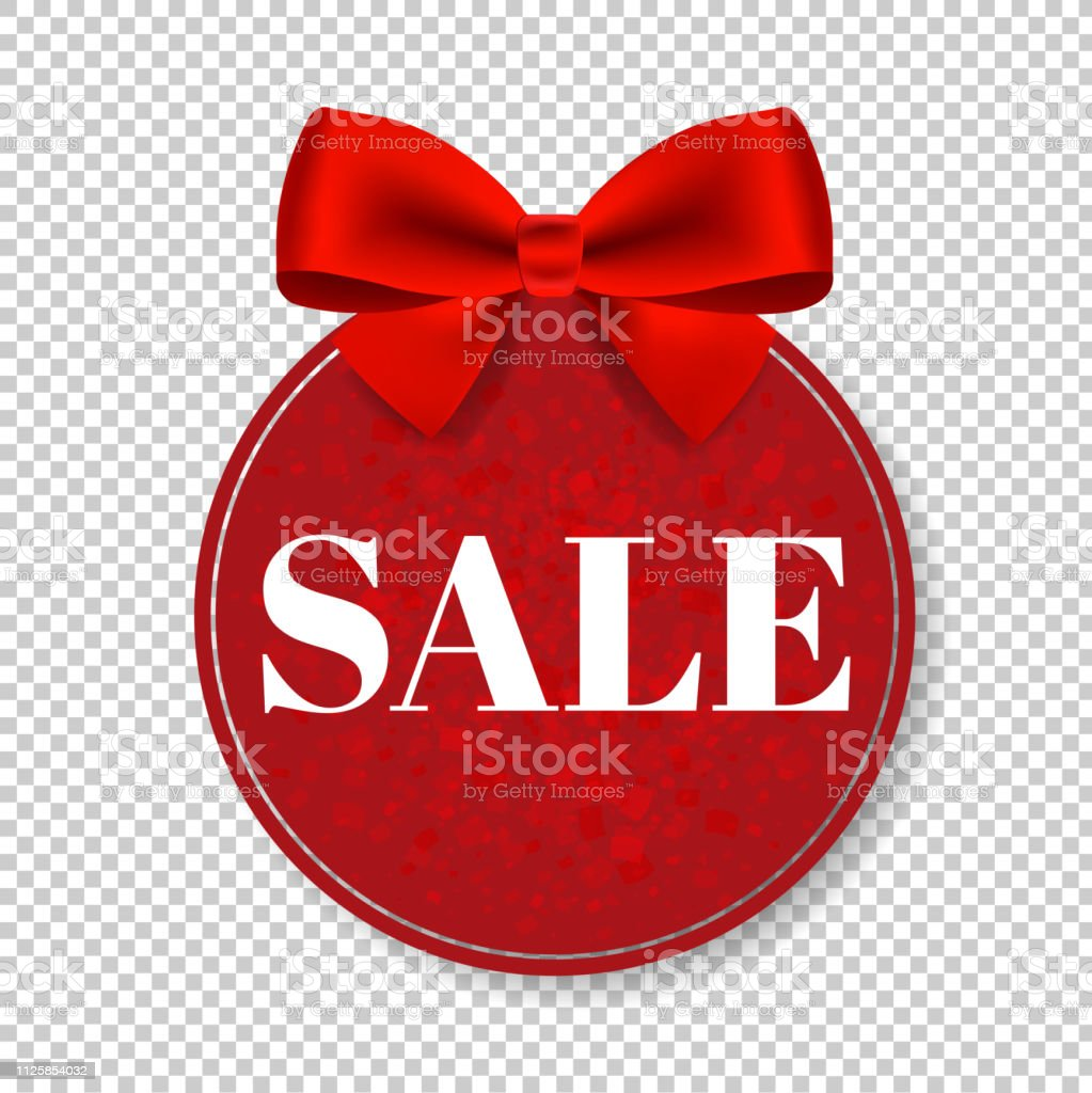 Sale Price Tag With Bow Isolated Transparent Background Stock Illustration Download Image Now Istock