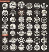 Sale retro vintage badges and labels