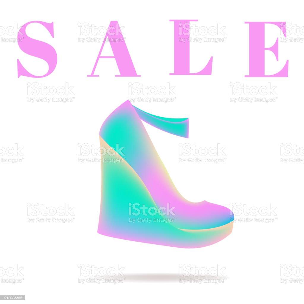 09cb3060 Ilustración de Venta Zapatos Descuentos De La Publicidad Tacón Alto ...