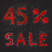 istock 45 sale sign icon. Discount symbol. Black Friday Sale, season d 1301729607