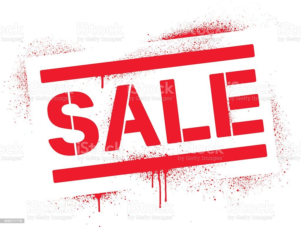 Sale Sign Stock Vector Art & More Images of Blood ...