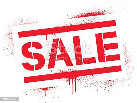 Sprayed stencil sale sign