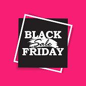 Sale square banner. Black Friday design template. Summer sale sticker. Vector illustration.