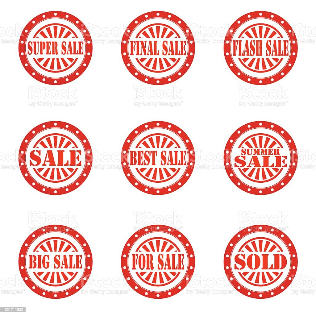 Sale Stamp Sign Text Stock Illustration - Download Image Now