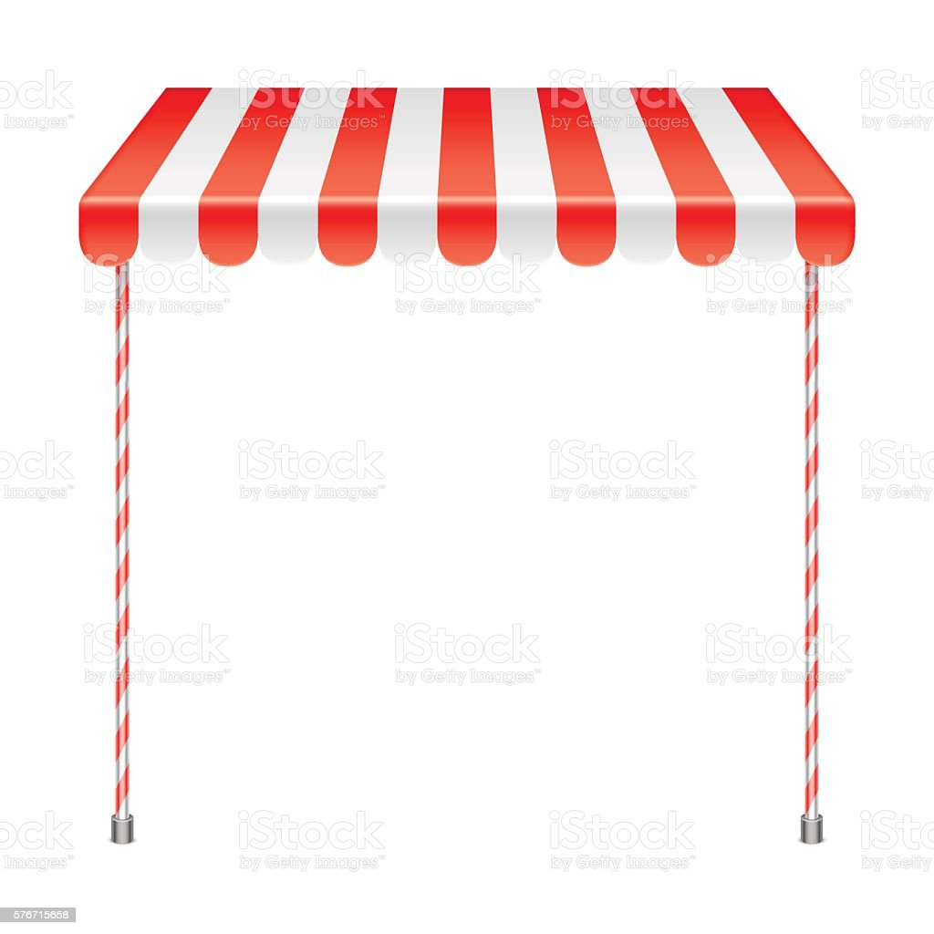 Sale Stand With Red Awning Stock Vector Art & More of Awning