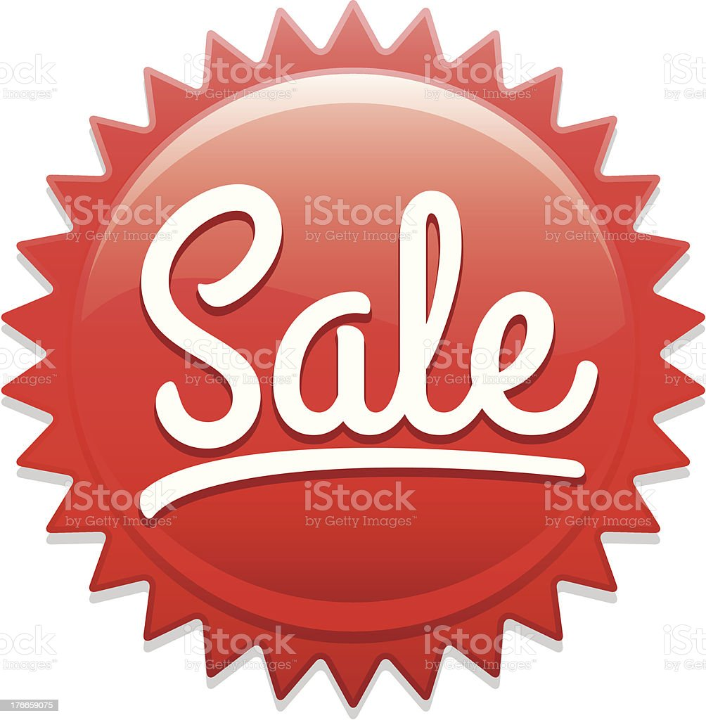 Sale sticker royalty-free stock vector art