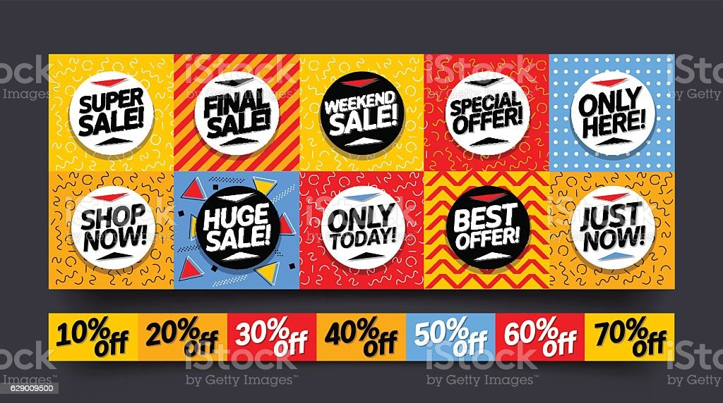 Pleasing Sale Stickers And Mobile Banners Coupon Set Stock Illustration Download Image Now Dailytribune Chair Design For Home Dailytribuneorg