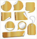 Sale stickers and tags golden collection