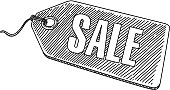 Line drawing of Sale Tag. Elements are grouped.contains eps10 and high resolution jpeg.