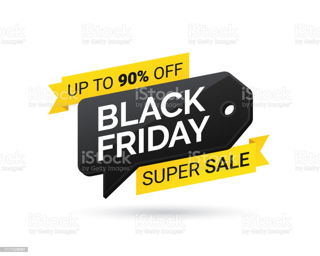 Sale tag. Super sale. Black Friday. Design element for sale banners,...