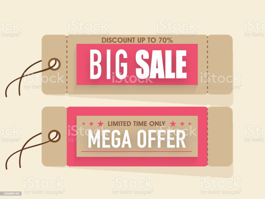 Sale tags for Happy Women's Day celebration. vector art illustration