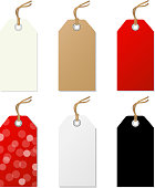 Sale Tags Set. Vector Illustration EPS10. Contains transparency.