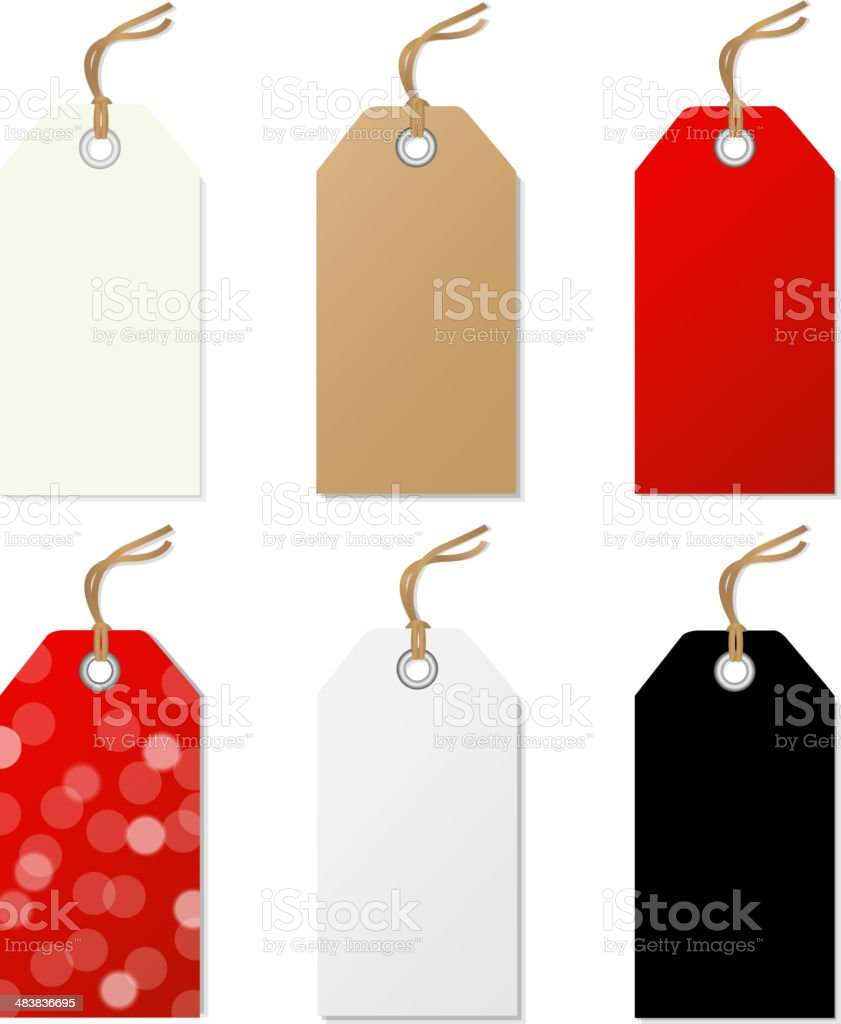 Sale Tags Set vector art illustration
