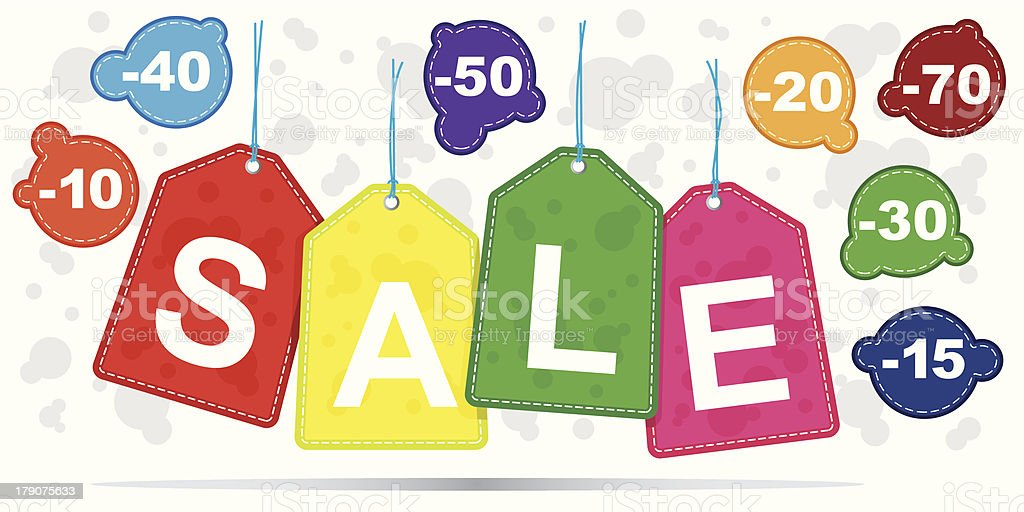 Sale Tags royalty-free stock vector art