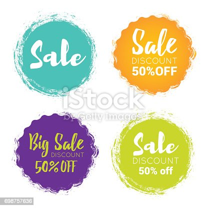 Vector illustration of the sale tag elements. discount label.