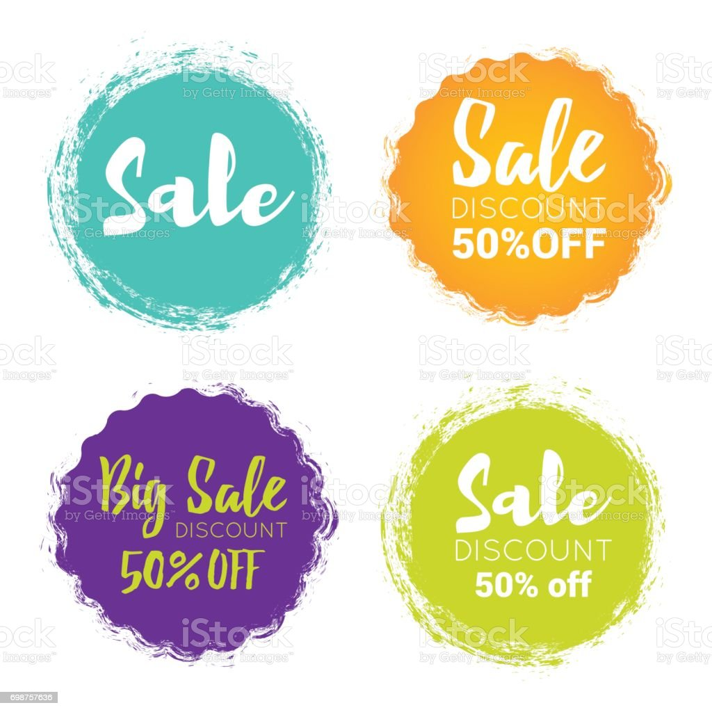 Sale Tags vector art illustration