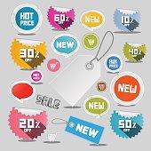 SaLe Vector Discount Labels Set