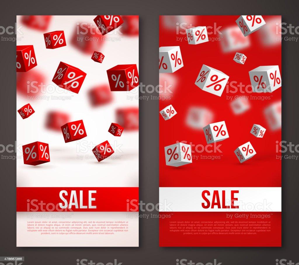 Sale vertikale Banner oder Flyer Set. Lizenzfreies sale vertikale banner oder flyer set stock vektor art und mehr bilder von 2015