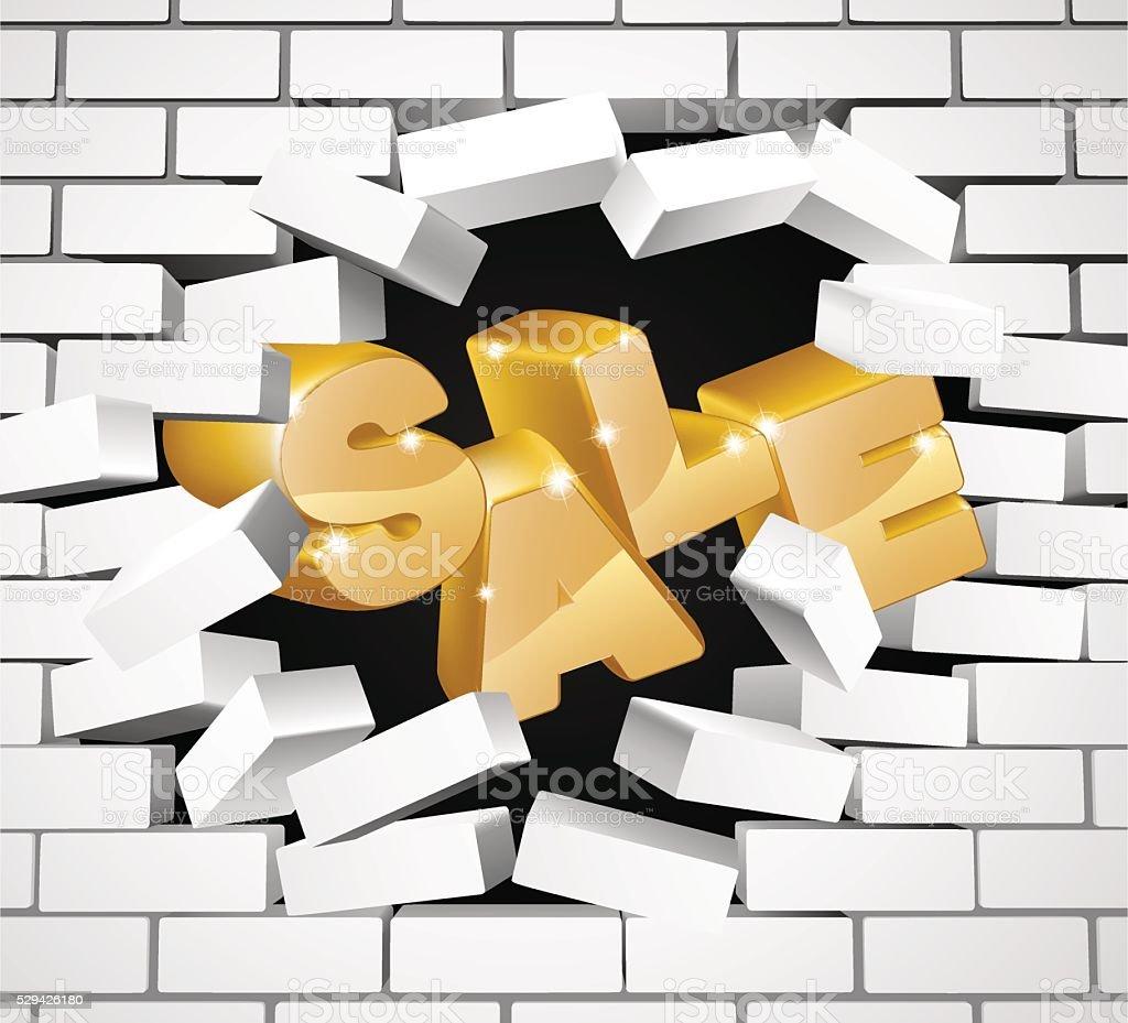 Diseño de venta de pared - arte vectorial de Agujero libre de derechos