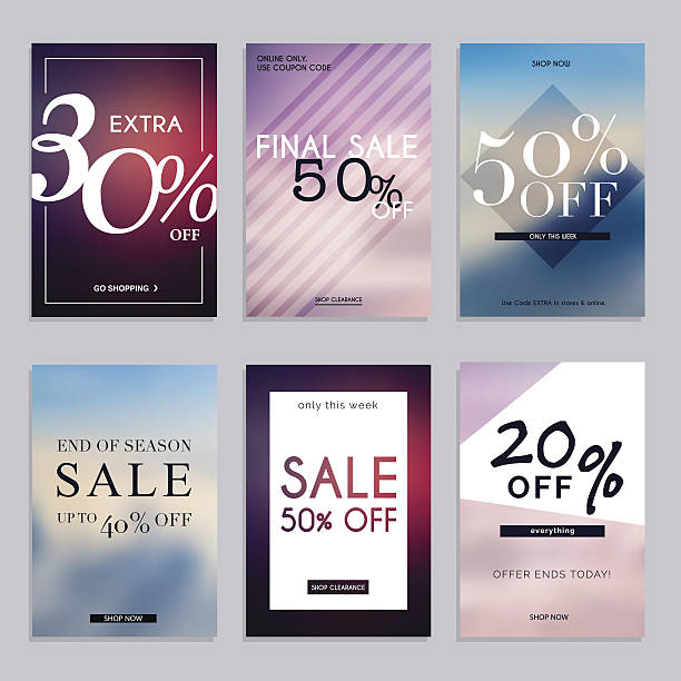 sale website banners web template collection. - email templates stock illustrations