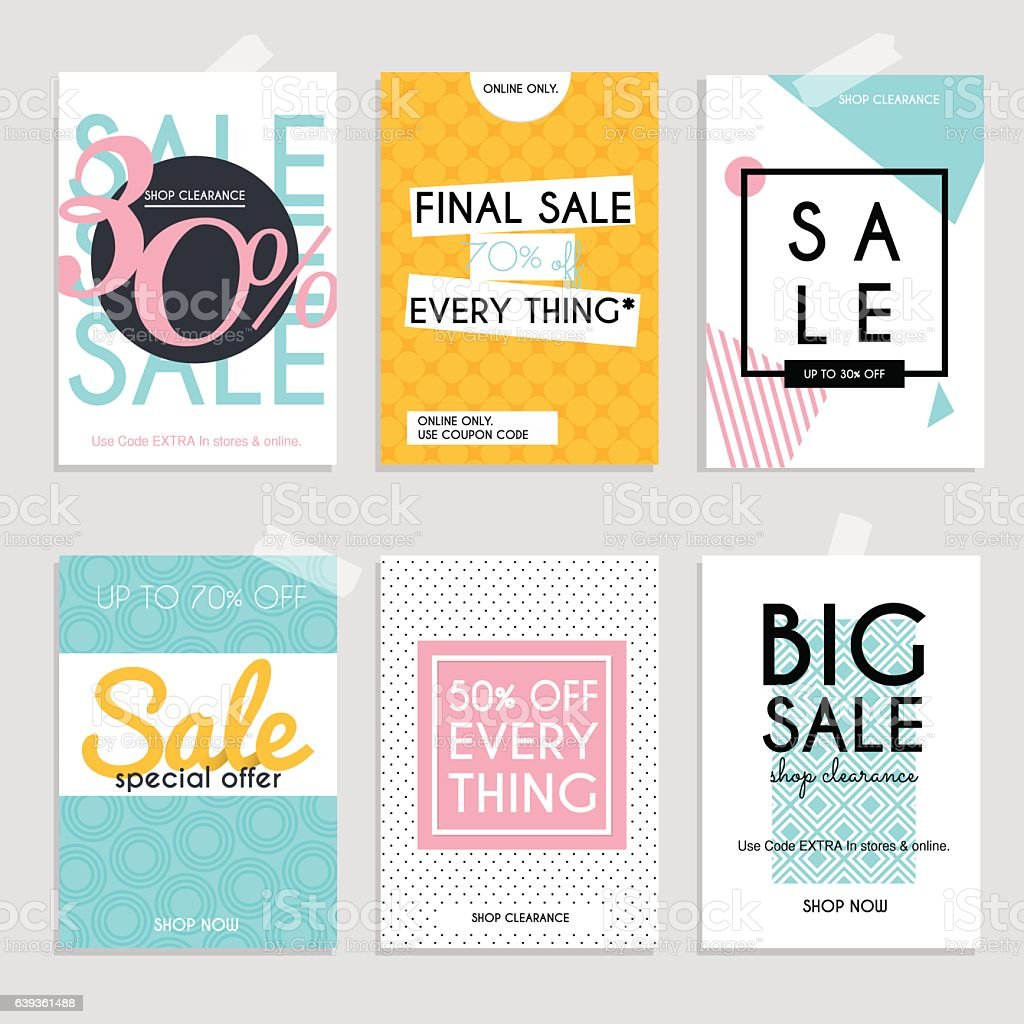 sale website banners web template collection のイラスト素材