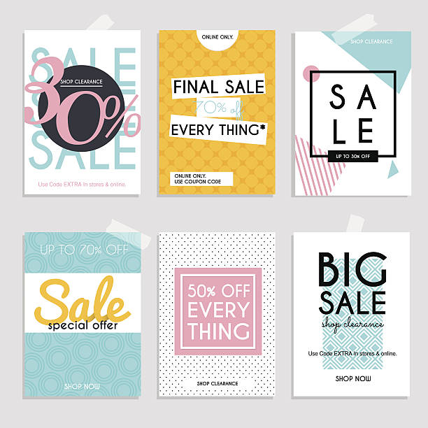 sale website banners web template collection. - 小売販売員点のイラスト素材/クリップアート素材/マンガ素材/アイコン素材