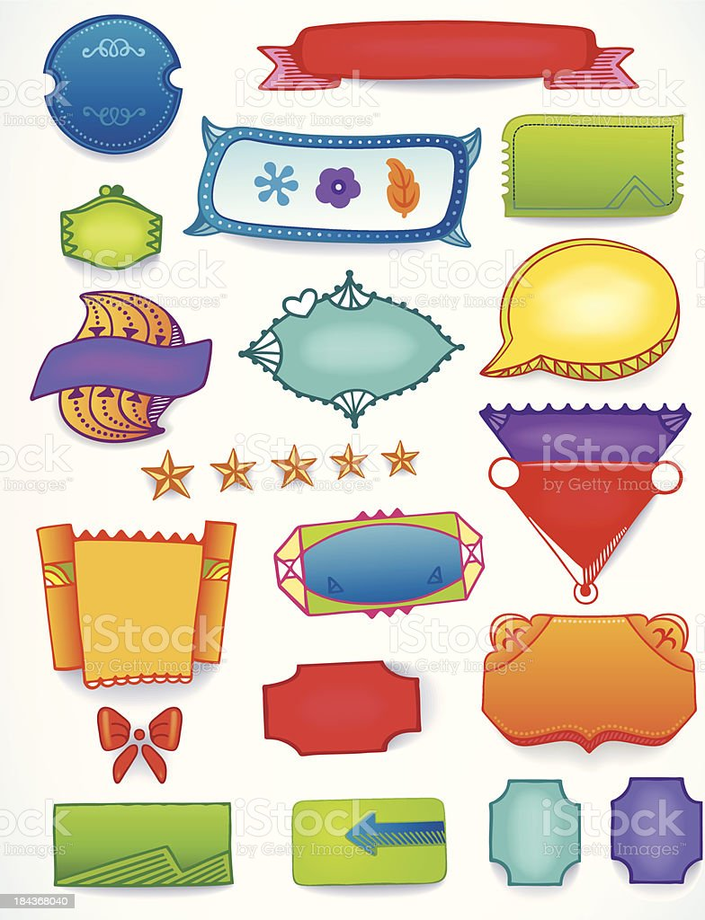 Sales blank promotion set of space text labels royalty-free sales blank promotion set of space text labels stock vector art & more images of business