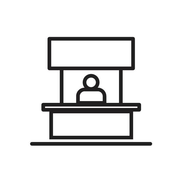 Sales booth icon Vector illustration, EPS10. vector art illustration