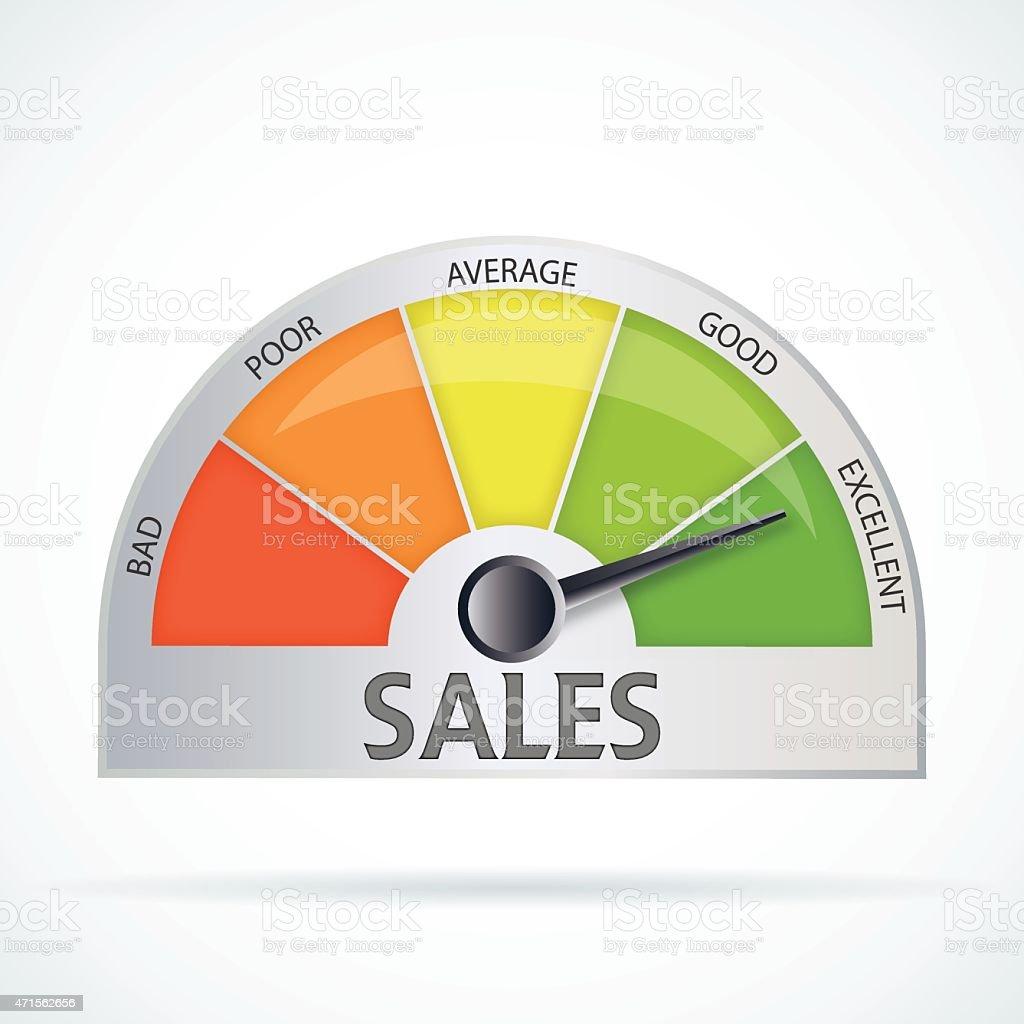 Sales chart vector art illustration