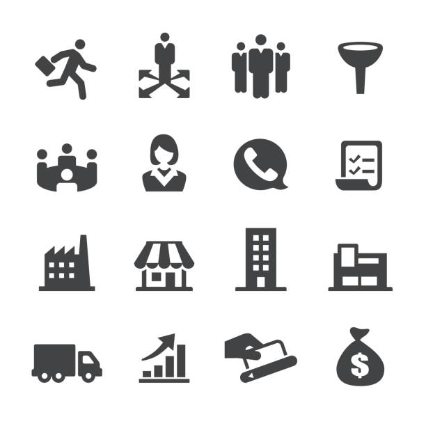 sales icons - acme series - part of a series stock illustrations, clip art, cartoons, & icons