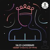 istock Sales Leaderboard Editable Line Illustration 1280162453