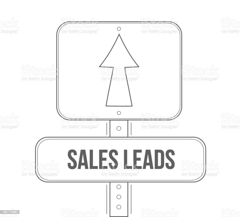 sales leads street sign concept illustration design stock vector art