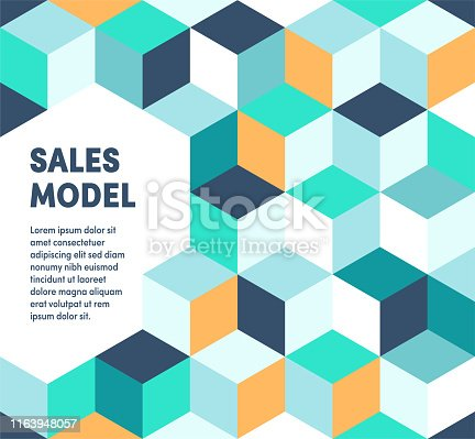 Abstract vector sales model web banner and advertisement design. Can be used for brochures, reports, posters, presentations, banners or web pages.