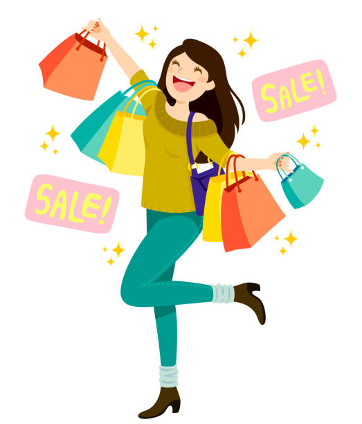 Sales Shopping vector art illustration