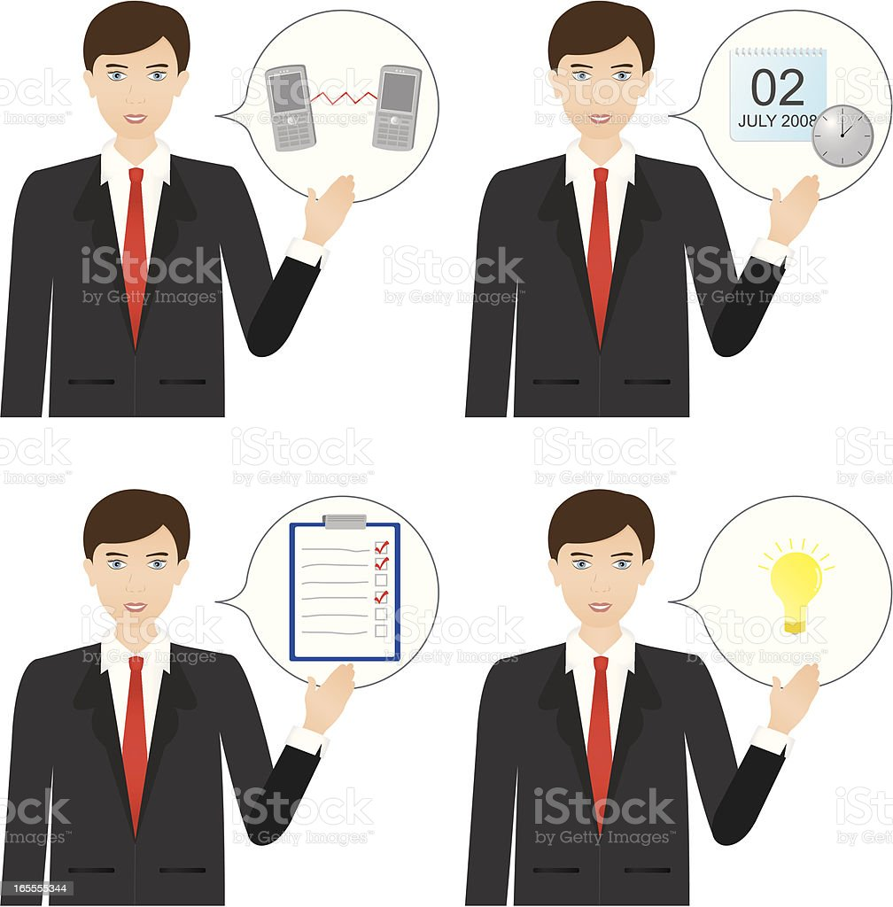 Sales Target Training royalty-free stock vector art