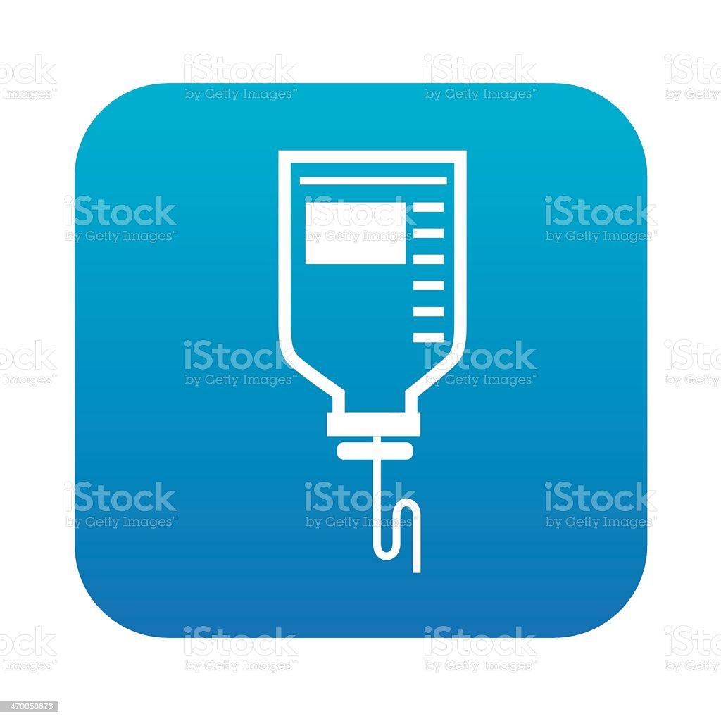 Saline design on blue button background,vector vector art illustration