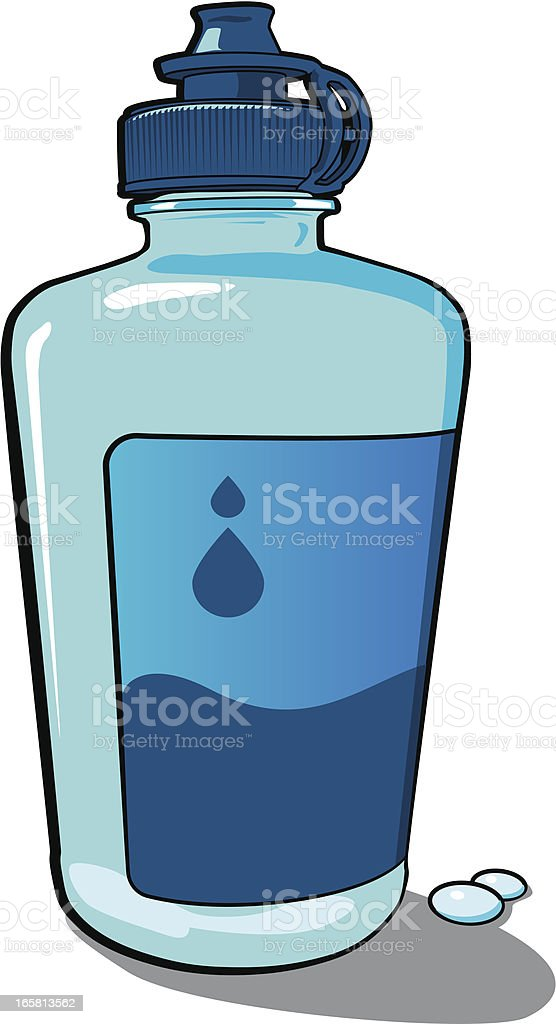 Saline Solution for Contact Lenses vector art illustration