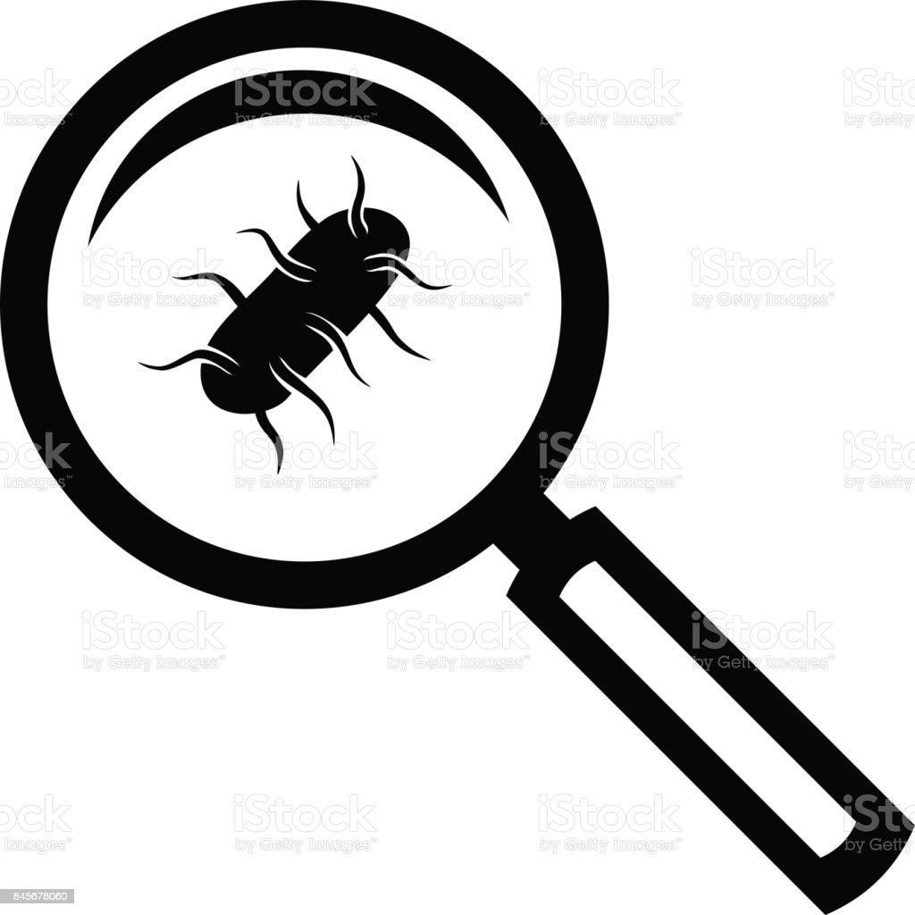 Salmonella test icon vector art illustration